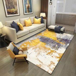 Moda Modern İskandinav Sarı Gri Soyut Baskı Paspas / Mutfak Mat Oturma Odası Yatak Odası Salonu Alan Kilim Dekoratif Halı