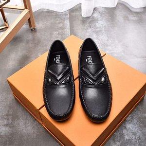 Chaussures de haricots en cuir des hommes britanniques, chaussures mode casual printemps été mode rivage causales 021001