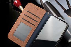 Novo Para iphone 11 pro Max Luxo Telefone X XR Xs Max Couro Oficial Cartão de Bolso do Designer Marca Case tampa traseira