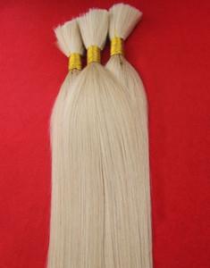 À la mode Grade Blonde Couleur 100% Brésilienne Vrac Humain Pour Tresser Les Cheveux 100g Tressage Vrac Cheveux Droite Tressage Cheveux