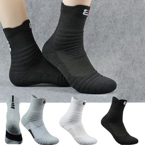 New High Quality Men Outdoor Sports Socks Basketball Socks Men Casual Cycling Compression Cotton Towel Bottom Men's