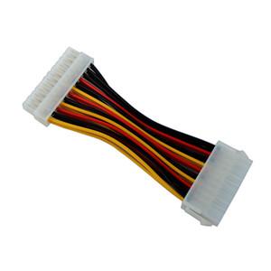 Equipo de oficina Computer Cables Conectores 1pcs 20 Hombre de 24 cable femenino del adaptador de plástico de 20 a 24 Conector