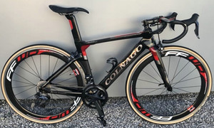 Colnago Concept Red Glossy Full Carbon Road Bicycy Bicycy Bicycle con 105 R7010 Groupset FFWD 50mm Wheelset