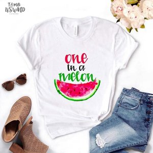 One In A Melon Watermelon Print Women Tshirts Cotton Casual Funny T Shirt Lady Top Tee Hipster Drop Ship Na 523