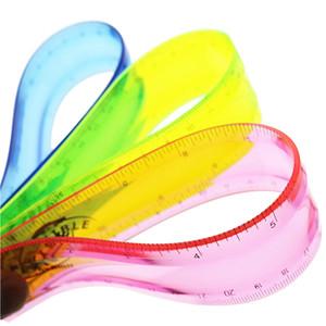 Regla suave Cinta métrica de estudiante flexible Regla flexible 15 cm 20 cm 30 cm (6 \ 8 \ 12 pulgadas) Regla recta Útiles escolares de oficina