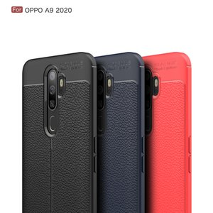 OPPO A9 2020 lychee pattern business soft tpu model fashion business complete all-inclusive anti-fall phone cover