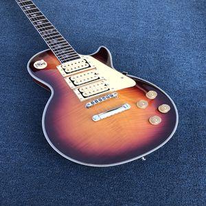 Custom Shop 3 Pickups elektrische Gitarre in Sunburst Großhandel China Gitarren Beste Qualität, freies Verschiffen