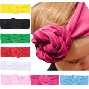 Bambino Top Knot rosa fascia infantile delicatamente Turbante fotografia puntelli accessori retrò dei capelli dei ragazzi fascia avvolgente M1817