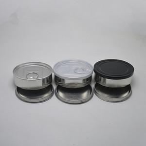 vente en gros thon couvercles noirs de boîtes de conserve en fer-blanc de 100 ml souche inclus peut concentré contenant de l'herbe alimentation Stockage