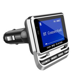 -Newly Bluetooth Araç Kiti MP3 Çalar Ahizesiz Kablosuz FM Verici Radyo Adaptörü Perakende Kutusu Ile USB Şarj LCD Uzaktan Kumanda (Perakende)