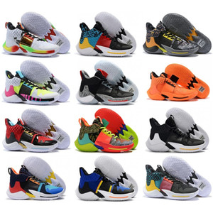 Nuovo Why Not Zero 2,0 PE pallacanestro Scarpe Uomo Mens Sneakers Jumpman Russell Westbrook II Sneakers Trainers Zer0.2 Chaussures 7-12
