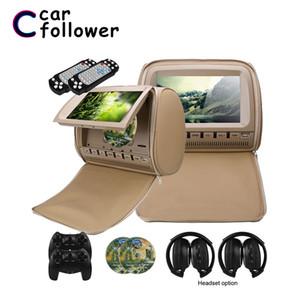 Schermo LCD 2PCS 9 pollici poggiatesta auto monitor DVD Video Player 800x480 copertura della chiusura lampo TFT supporto IR / FM / USB / SD / Speaker / Giochi
