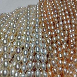 5-6мм Природные пресной воды Pearl DiY Ожерелье 36см из бисера Pearl Полуфабрикаты ожерелье Изготовление ювелирных аксессуаров высокого качества