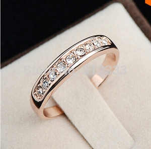 Key4fashion S925 stamp Sterling Silver anillos mujer bague aros Rhinestones Studded Finger Rings Clear CZ diamond Engagement wedding women