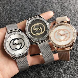 Erkekler Kadınlar Kız arı bal arısı tarzı metal çelik bant Saatler GUC GU57 için Marka kuvars bilek İzle