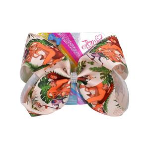 """6.7"""" JoJo Siwa Bow princesa arcos de cabelo com clip para Bebés Meninas Sereia Handmade Cabelo Clip Barrettes Acessórios"""