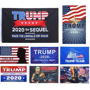Alta qualità Trump Flag 3x5 per gli USA 2020 Presidente rieleggere all'ingrosso Bandiera Banner 10 Clolor Designs for Sale