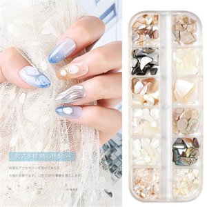 3D Irregular Abalone shell Nail Art Decorations UV Gel Flake Slider Charms Spangles Stones Nail Tips Manicure Accessories F402