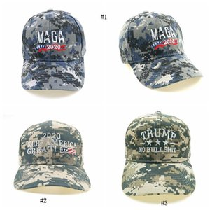 Männer Hut Stickerei Make Amerika Great Again Camouflage Hat Donald Trump Kappen MAGA Trump Baseballmützen MMA2474