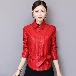 Wertotio mulheres jaqueta de couro 2019 primavera nova jaqueta de couro das mulheres casual selvagem curto plus size s-3xl outerwear roupas femininas