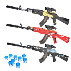 Assalto manual Rifle AK 47 Água bala Tiro Meninos Outdoor Brinquedos Sniper Armas Arma Airsoft Air armas presente
