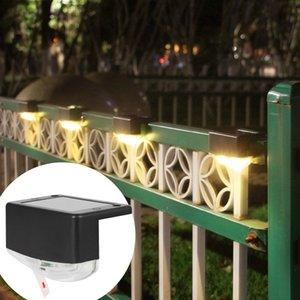 2LED Solar Lâmpada de parede exterior PIR Sensor de Movimento Waterproof Cerca Lamp Light Control Indução Warm White