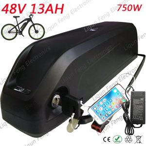 Бесплатная доставка Bafang 8fun BBS02 BBSHD Mid Power Power Акула дельфин вниз трубки батареи 48 В 13ah толстый велосипед горный велосипед дорожный велосипед.