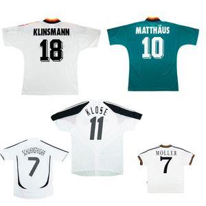 Deutschland 1988 1990 94 96 2004 06 Retro-Trikot MATTHAUS Klinsmann MOLLER VOLLER Vintage Fußball-Trikot KLOSE BALLACK klassische Fußball-Trikot