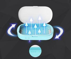Portable stérilisateur UV Box Case Sanitizer Boîte de désinfection machine revêtement pour masque Téléphone Montres Lunettes Sous LJJA3982 brosse à dents