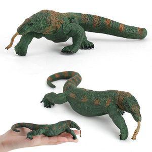 Model Wild Animal Model Crawling Lizard Solid Static Komodo Goanna Plastic Ornament