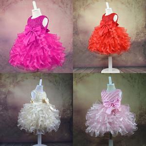 Mädchen Prinzessin Kleid 6 Design Bogen Schärpe Perle Tutu Kleider Baby Mädchen Kleider Mädchen Weste Ballkleid Kleid Blume Mädchen Kleidung 0-24 Mt 07