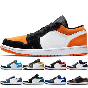 Cheap basketball shoes low shoes 1 1s orange Laser Blue Gold Toe Black Toe Obsidian Midnight Navy Grey Toe sneakers sports shoes