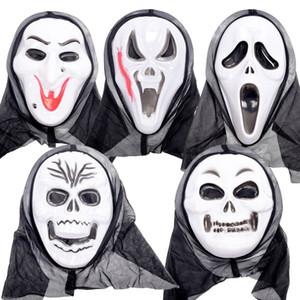 Ölüm Çığlık Kafatası Hayalet Cadılar Bayramı Kafatası Scream Hayalet Demon PVC Yetişkin Kostüm Masquerade Tam Maskeler Maske