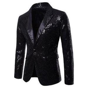 Homens brilhante do ouro Lantejoula Glitter embelezado Blazer Jacket homens Nightclub Wedding Party Blazer paletó Cantores Stage Roupas