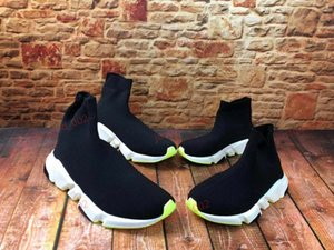 xshfbcl 2020 new platform sock shoes speed trainer mens womens socks casual shoes black Parent-child shoes boots sports sneakers