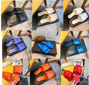 2020 Designer women's slippers square mules shoes insoles nappa lambskin women shoes LIDO sandals luxury lady flat sandals top quality shoe