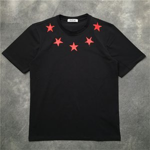 Erkek T Shirt Broken Pentagram Baskı T Shirt Beş Sivri Yıldız Kısa Kollu Casual Tişörtlü Camiseta Tee Tops