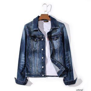 dsquared2 DSQ d2 mens automne veste en jean design design et l'hiver nouveaux hommes DSNJ8 Europe et Amérique du graffiti rue jean jacketZ57BZ57B
