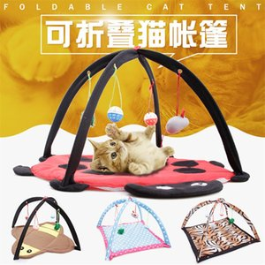 Pet hammock cat breathable environmental friendly cartoon fun ringing bell toy cat tent cat tent little bee