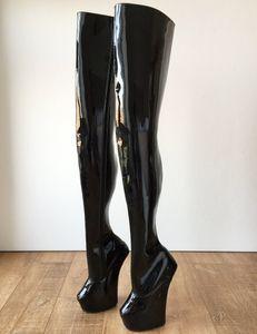 Tırnak Topuk Kama Uyluk Yüksek Çizmeler Kadın Fermuar Platformu topuklu Özel Büyük Boy Bacak Bayan Çizmeler Artı Boyutu Topuklu Bayan Ayakkabı