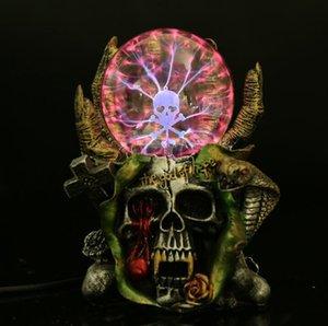 Голова черепа мебельная фабрика прямые продажи смолы волшебная лампа электростатической индукции мяч электростатический оптовый завод outle
