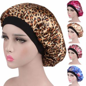 Lange Haarpflege Damenmode Satin Mütze Cap Nacht Schlaf Hut Silk Cap Head Wrap