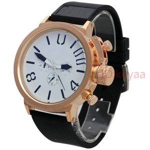 Gold Case designer Mens Boat watch Sports 50mm Big Silver watch Rubber Classic Automatic movement Mechanical U Watches wristwatch