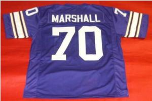Donna-Uomo della gioventù Vintage Custom # 70 Jim Marshall dimensioni College Football Jersey s-4XL o personalizzato qualsiasi nome o numero di maglia