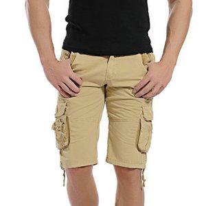 Nueva Moda de Camuflaje de Carga de Algodón Pantalones Cortos Casuales Hombres Camo Shorts Envío de La Gota Abz147 C19041303