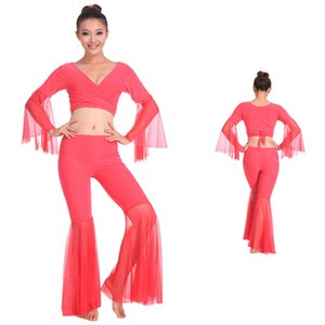 2016 Wholesale Belly Dancing Professional Dance Wear Sexy Women Practice Costume Set 9 Colors