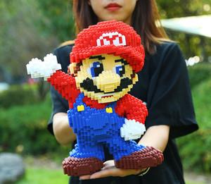 어린이 퍼즐 빌딩 블록 선물 상자 DIY 장난감 어린이 선물 생일 선물 아이 장난감 메리 마리오를 설정 빌딩 블록 8498pcs 아이들