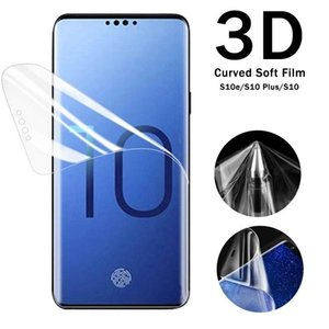 Samsung Galaxy S20 Ultra S10 Plus Full Cover PET TPU Screen Protector 3D Curved Soft Film For Note10 Pro S8 S9 Plus S10e S10+ Note 9