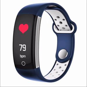 Q6 피트니스 트래커 스마트 팔찌 HR 혈액 산소 모니터 스마트 시계 혈압 방수 IP68 안드로이드 아이폰 스마트 손목 시계