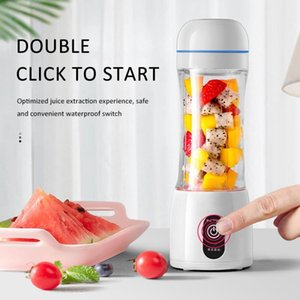 400Ml 6 Blades Portable Electric Juicer Blenders Blender Bottle Usb Mini Fruit Food Mixers Extractor Smoothie Squeezer Juice Cup zybbp